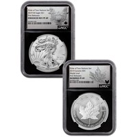 2019 US Mint/Canada Pride of Two Nations 2-Coin Set PF-69 NGC (First Release, Black Core)