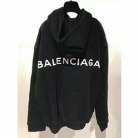 Balenciaga Long Sleeve Hedging Pullover Sweater Hoodies G-AGG-CZDL