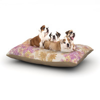 "Marianna Tankelevich ""Retro Summer"" Yellow Pink Dog Bed"