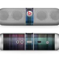 The Multicolored Vintage Textile Plad Skin for the Beats by Dre Pill Bluetooth Speaker