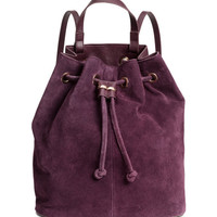 Backpack with Suede Details - from H&M