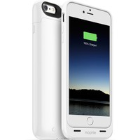 mophie Juice Pack Air iPhone 6 Plus White Case - Mens Snowboard Clothing - White - NOSZ