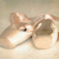 Ballet shoes pastel pink romantic dance photography closeup dreamy pointe shoes dancer - Dance Away 8 x 10
