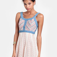Misadventure Chambray and Lace Sundress - $44.00 : ThreadSence, Women's Indie & Bohemian Clothing, Dresses, & Accessories