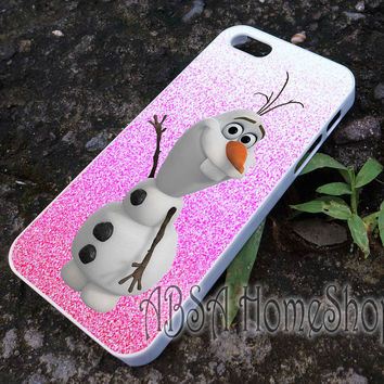 pink olaf disney frozen case for iPhone 4/4s/5/5s/5c/6/6+ case,iPod Touch 5th Case,Samsung Galaxy s3/s4/s5/s6Case, Sony Xperia Z3/4 case, LG G2/G3 case, HTC One M7/M8 case galaxy