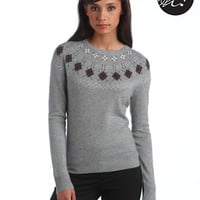 Lord & Taylor Argyle Yoke Sweater