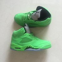 Nike Air Jordan 5 Triple Green For Men Basketball Shoes Sneaker