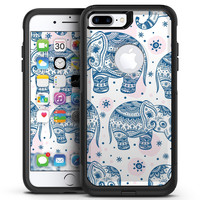 Ethnic Navy Seamless Aztec Elephant - iPhone 7 or 7 Plus Commuter Case Skin Kit