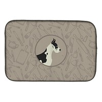 Great Dane In the Kitchen Dish Drying Mat CK2189DDM