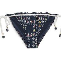 What Floats Your Boat String Tie Side Bikini Bottom