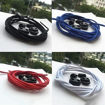 1Pair No-Tie Elastic Locking Shoe Laces  Running Sports Shoelaces Shoestrings