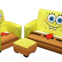 Nickelodeon Deluxe Toddler Sofa, Chair and Ottoman Set, Sponge Bob:Amazon:Baby
