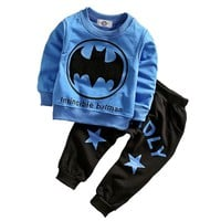 Batman Dark Knight gift Christmas Baby Boy Clothing Sets Spring Cotton Boys Batman Clothes Sets Full Sleeve Children Sports Suits Kids Clothing For 1-3 Year AT_71_6
