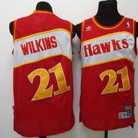 PEAP Atlanta Hawks #21 Dominique Wilkins Retro Swingman NBA Jerseys