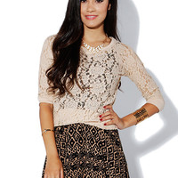 Papaya Clothing Online :: LACY CASUAL TOP