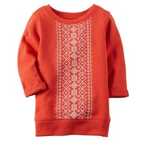 Carter's French Terry Fairisle Tunic - Baby Girl, Size: