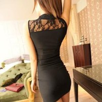 Black Lace Lovely Sexy Dress For Woman