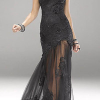 New Sexy Black Lace Formal Prom Evening Party Pageant dress Wedding Bridal gowns