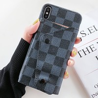 LV Louis Vuitton Fashion New Monogram Leather Women Men Card Protective Cover Phone Case