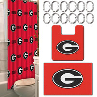 Georgia Bulldogs NCAA 15-Piece Bath Set