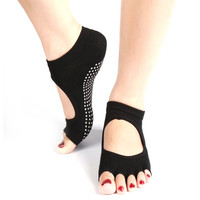 1Pair Ankle Grip Dance Pilates Sports  Five 5 Toes Non Slip Comfortable Yoga Socks