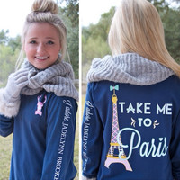 JADELYNN BROOKE: Take Me to Paris LS Tee