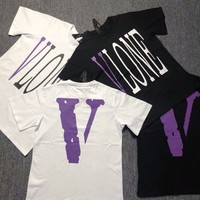 VLONE Purple Streetwear HipHop Tee