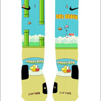 Custom Flappy Birds Socks Custom Nike Elites