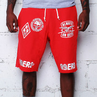 Kustom Life French Terry Shorts Red