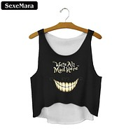 Smile Face Crop Tops