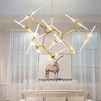 Modern LED Glass Chandelier Lighting For Dinning Table and Living Room