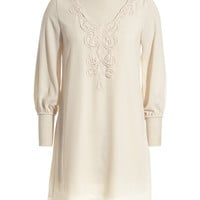 Ivory Embroidered Shift Dress | zulily
