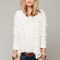 Free People Oversized Cable Poncho