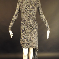 VIVIENNE WESTWOOD-Jersey Printed Knit Dress, Size-Small