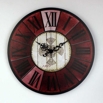 antique roman number 3d large decorative wall clock modern design more silent fashion home hours quartz watch wall gift