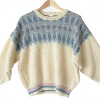 Shop Now! Ugly Sweaters: Vintage 80s Alafoss Icewool Iclandic Wool Ugly Ski Sweater Women's Large/Men's Medium (M/L) $25 - The Ugly Sweater Shop