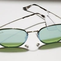 100% Authentic Ray Ban Dark Green/Silver Mirror Round Sunglasses RB3579N 003/30