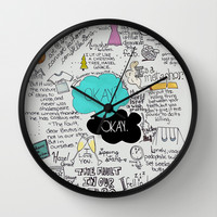 The Fault in Our Stars- John Green Wall Clock by Natasha Ramon