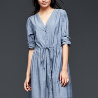 Gap Women Chambray Shirtdress
