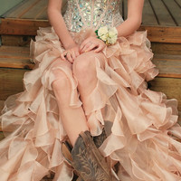 High Low Pink Homecoming Dress