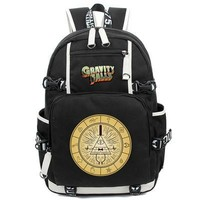 Hot Anime Gravity Falls Backpack Canvas Bag Schoolbag Travel Bags
