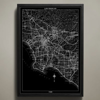 Map Print, LOS ANGELES