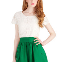 ModCloth French Long Short Sleeves Twofer Give It a Go Romper