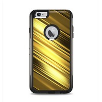 The Shimmering Slanted Gold Texture Apple iPhone 6 Plus Otterbox Commuter Case Skin Set