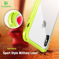 FLOVEME Anti-knock Case for iPhone X , Shockproof Corner Bumper Designed Mobile Phone Cases for iPhone x 10 Cover Accessories