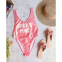 GRL GNG Collection - Bride's Squad/Bridesmaid High Cut Vintage One Piece in More Colors
