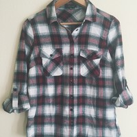 Katie Red and White Flannel