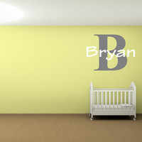 Personalized name and monogram wall art wall words wall quote wall decal wall sticker for children nursery Bedrooms