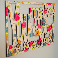 Unique, colorful wall art ready to hang