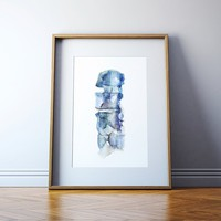 Spine Watercolor Print - Vertebrae Watercolor Print - Anatomy Art -